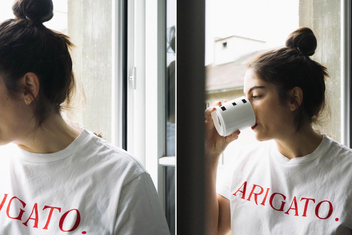 Arigato Shirt von the frankie shop.
