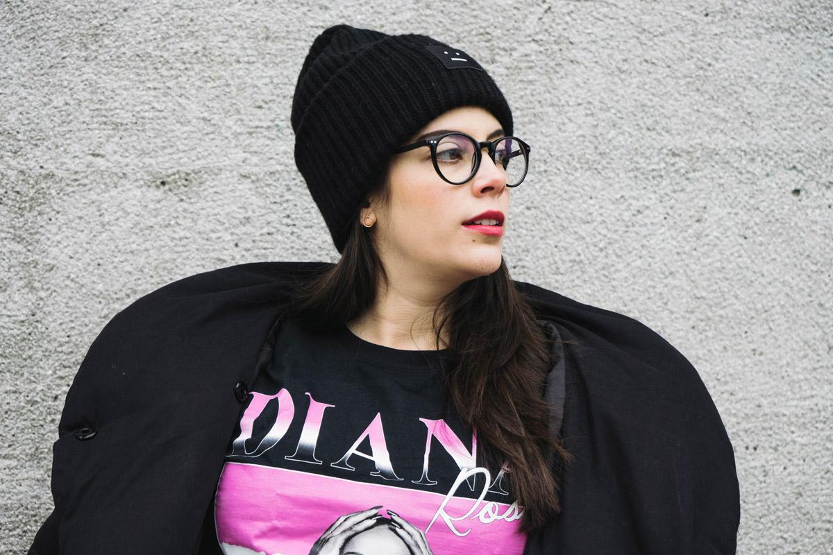T-Shirt mit Diana Ross Foto.