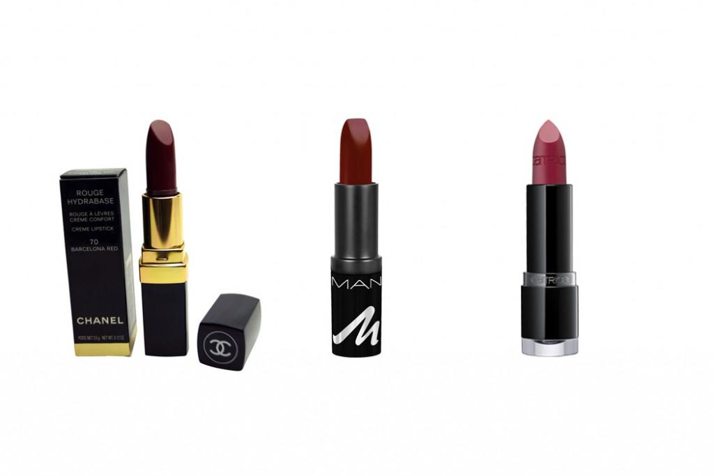 Lippenstifte von Chanel, Manhattan und Catrice