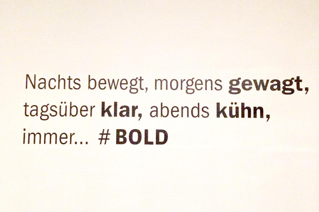 BOLD München Schriftzug