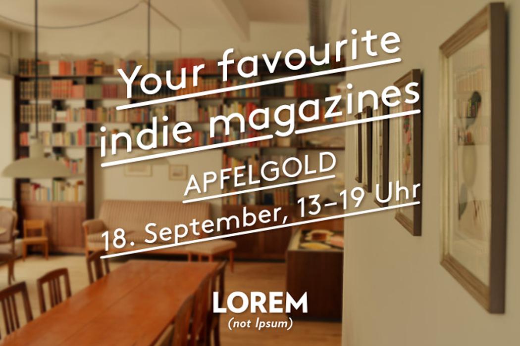 Lorem (not Ipsum) Apfelgold